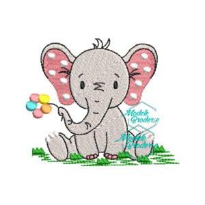 Model broderie Elefant
