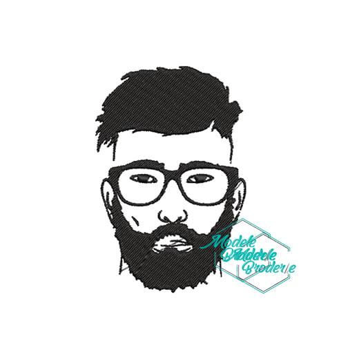 Model broderie barbat cu barba 178