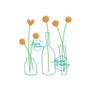 Model broderie flori in vaza 134
