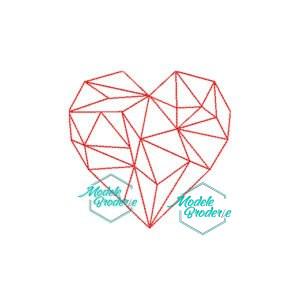 Model broderie red heart