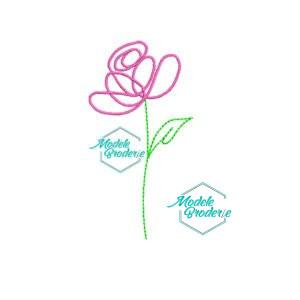 Model broderie trandafir 133