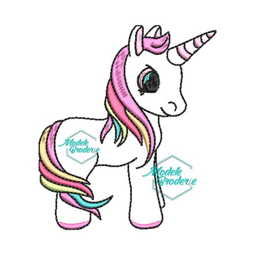 Model broderie unicorn dragut
