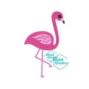 Model broderie flamingo