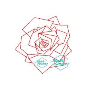 Model broderie trandafir 131