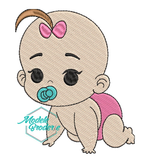 Model broderie baby girl pink 231