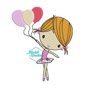 Model broderie balerina cu baloane 226