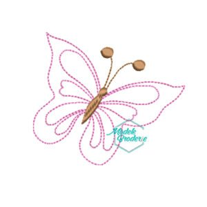 Model broderie fluture liniar 222