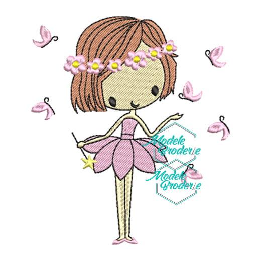 Model broderie balerina fluturas 278