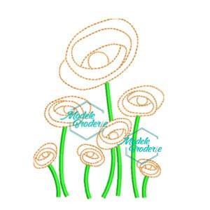 Model broderie floricele pe campii 259