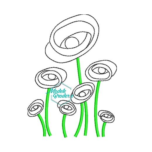 1Model broderie floricele pe campii 259