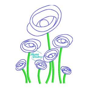 2Model broderie floricele pe campii 259
