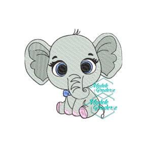 Model broderie elefantel 310