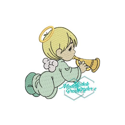 Model broderie ingeras cu trompeta MBR343